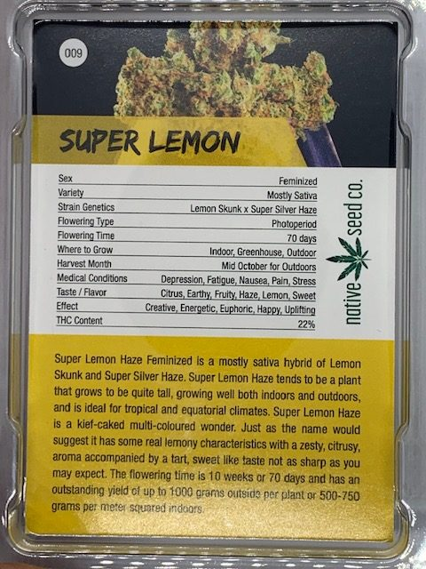 NATIVE SEED CO  SUPER LEMON 4PK